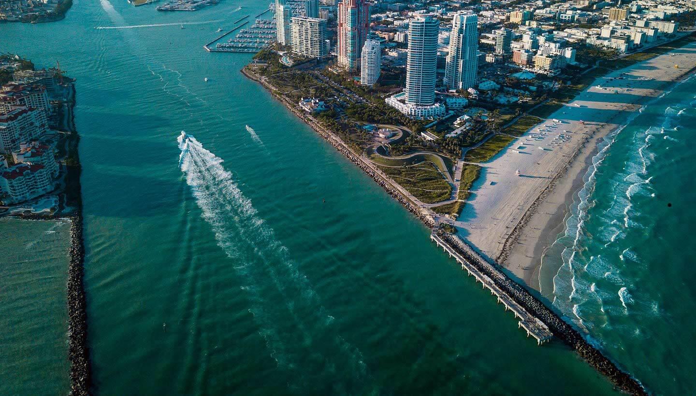 overhead image of Miami - Cardiff