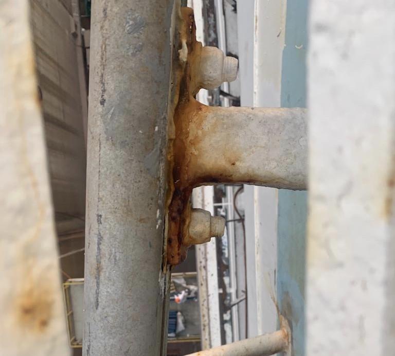 bracket galvanic corrosion
